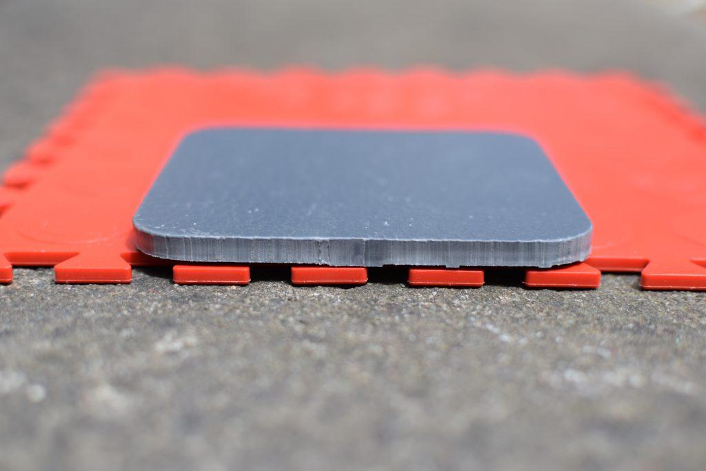 Tile thickness comparison